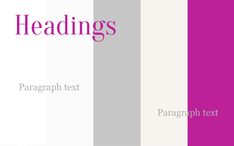 Galaits Color Palette and Typography image