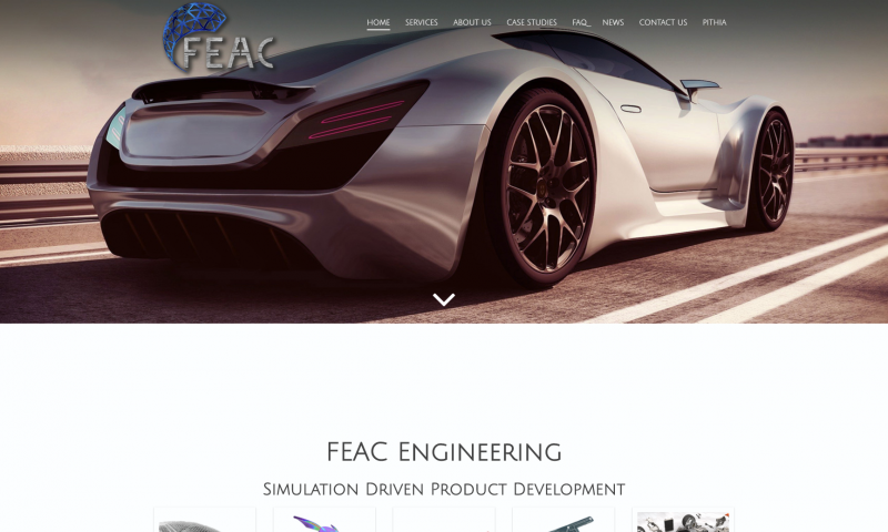 FEAC engineering homepage screenshot