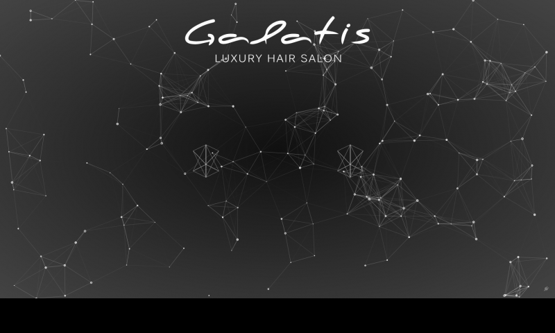 Galatis Luxury Hair Salon landing home page screenshot