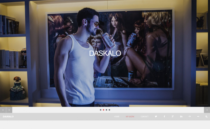 Daskalo homepage screenshot