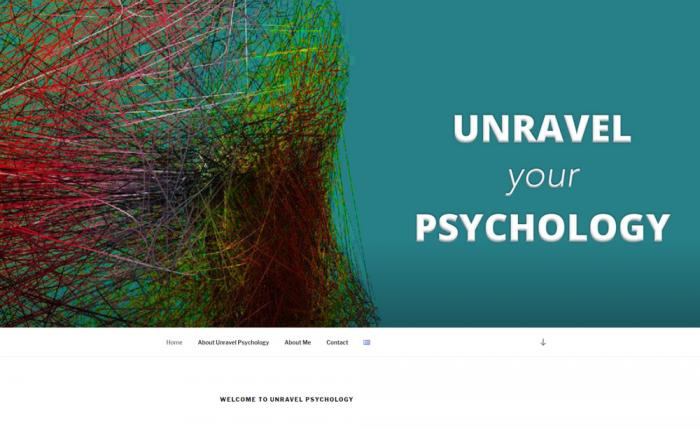 Unravel Psychology homepage screenshot