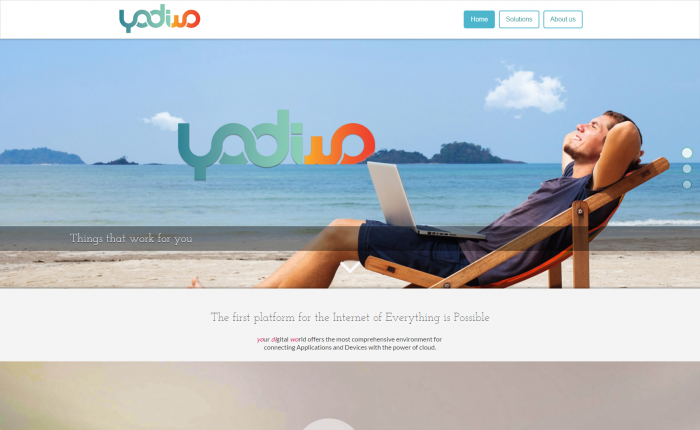 Yodiwo homepage screenshot