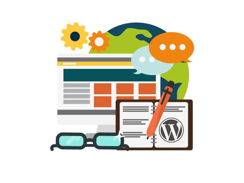 illustration of wefixit wordpress development service